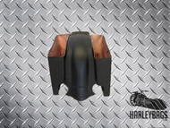 "Harley Davidson 6"" Stretched Saddlebags & Notched Fender Set - Dual Cut Outs"
