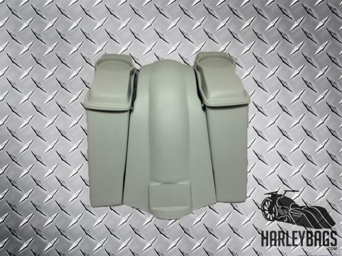 """Harley Davidson 6"""" Stretched Saddlebags Fender Kit - 6.5"""" Speaker Lids - Uncut"""