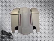 """Harley Davidson 6"""" Super Stretched Saddlebags & Fender Kit w/LED Brake Lights"""