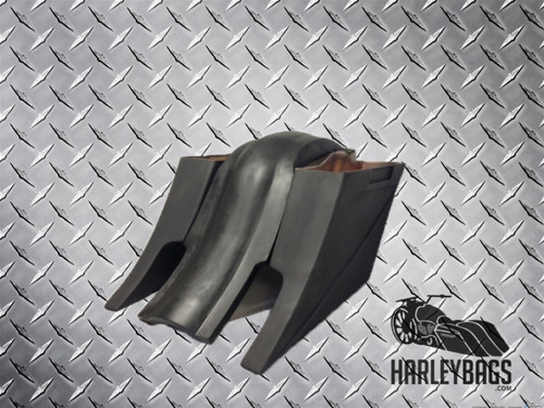 "Harley Davidson 8"" Extended Stretched Saddlebags & Rear Fender - CUSTOM BAGGER"