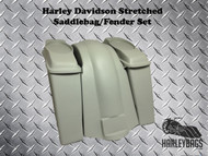 "Harley Davidson FL Softail 6"" Extended Stretched Saddlebags Bags & Fender 6""x9"""