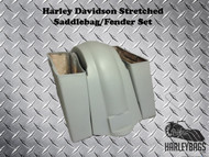 "Harley Davidson Softail 6"" Stretched Saddlebags and Fender - Longer Fiberglass"