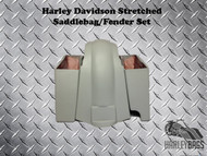 "Harley Davidson Softail 6"" Stretched Saddlebags and Fender - Right Cut Out"
