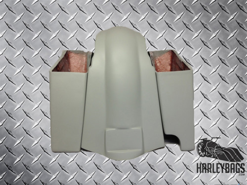 Harley Davidson Softail XL Stretched SaddleBags & Fender Set - Right Cut Out