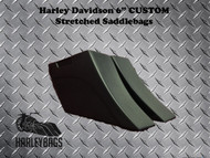 "Harley Down-n-Out 6"" Custom Stretched Saddlebags"