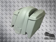 "Harley FL Softail Lowered Stretched Saddlebags & Fender Set 6""x9"" Speaker Lids"