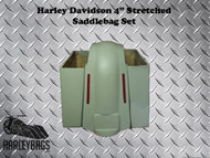 Harley Stretched Saddlebags & Fender w/LED Brake Lights