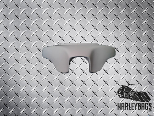 Headlight Batwing Fairing - Harley Softail Motorcycle (Inner & Outer) White Gel