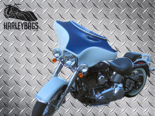 Headlight Batwing Fairing - Harley Touring Motorcycle (Inner & Outer) White Gel
