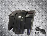 """Harley Davidson REAL Carbon Fiber 4"""" Stretched Saddlebags & Fender Set"""