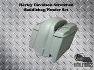 """Softail 4"""" Stretched Double Speaker Saddlebags & Fender Right Side 2-in-1 Cut Out"""