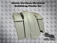 "Softail Harley 4"" Stretched 6x9 Speaker Saddlebags + Fender - Right Side"