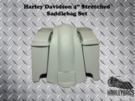 Stretched Saddlebags Bags & Fender w/Cut Outs, Speaker Lids - Softail Deluxe