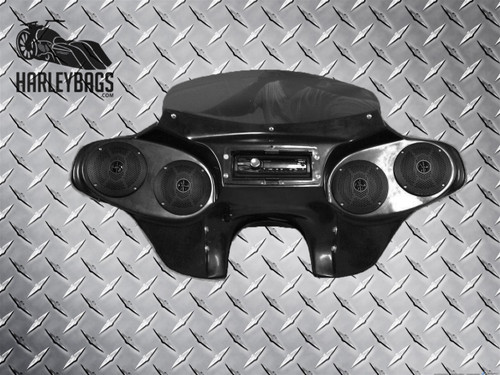 Yamaha Road Star 1600 / 1700 Batwing Fairing - Quad (4) Speakers + CD/Radio