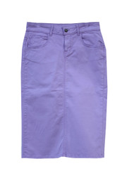 Colored Denim Skirt - Lilac