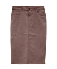 Waxed Colored Denim Skirt - Wet Sand