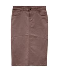 Waxed Colored Denim Skirt - Wet Sand