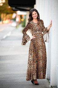 Sophia Leopard Ruffle Dress IN STOCK