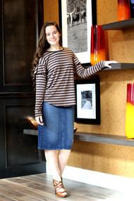 Nicole Premium Denim Skirt - IN STOCK