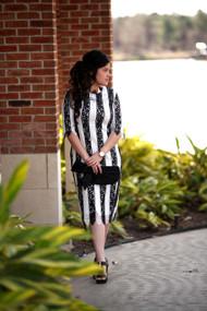 Olivia Striped Lace Dress