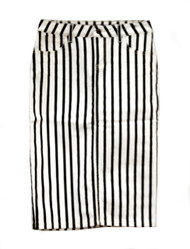 Black/White Striped Premium Denim Skirt - SAMPLE - MEDIUM and XL
