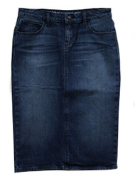 Riley Premium Dark Denim Skirt