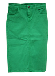 Kelly Green Premium Denim Skirt