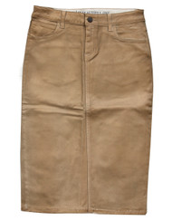 Gold Waxed Premium Denim Skirt