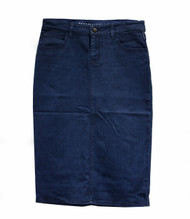 Blue Pearl Waxed Denim Skirt