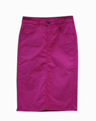 Premium Colored Denim Skirt - Magenta Haze - XS