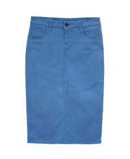 Premium Colored Denim Skirt - Airy Blue