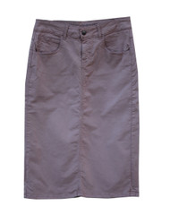 Premium Denim Skirt - Warm Taupe