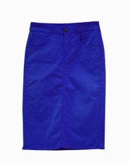 Premium Colored Denim Skirt - Royal - SAMPLE - XS