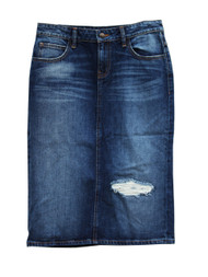 Kaylee Premium Denim Skirt - Ships Early December