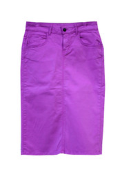 NEW Premium Denim Skirt - Striking Purple
