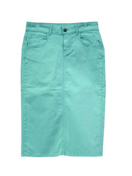 NEW Premium Denim Skirt - Aqua Splash