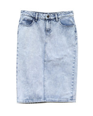 Holly Premium Denim Skirt -Indigo Acid Wash - Ships Early December