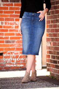 Hayden Premium Denim Skirt IN STOCK