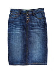 Bridgette Premium Denim Skirt - IN STOCK