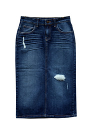 Kinsley Premium Denim Skirt (rips are patched)