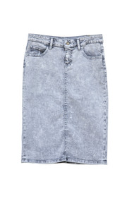 Paige Premium Denim Skirt - Grey Acid Wash - Ships Early December