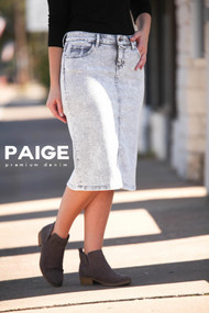 Paige Premium Denim Skirt - Grey Acid Wash