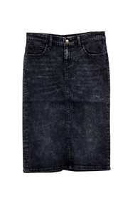 Eliza Premium Denim Skirt - Faded Black Wash IN STOCK