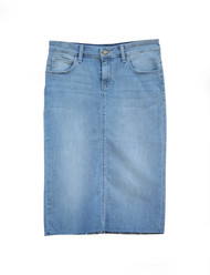 Gracie Raw Hem - Light Indigo Wash