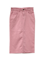 Colored Denim Skirt - Rose Pink