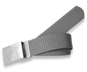 Plain Buckle- Perforated Grey