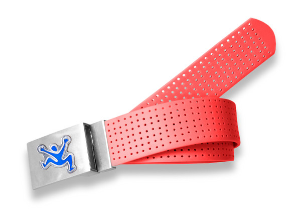 Perforated Belt CJ Logo Stop Sign Red