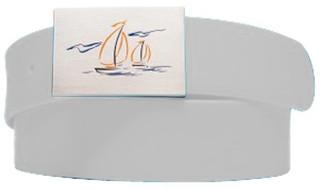 Sailboat Logo- Antique White