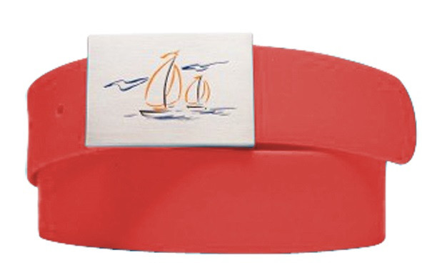 Sailboat Logo Stop Sign Red