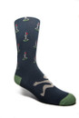 Fancy Men's Golf Motif Navy/Green